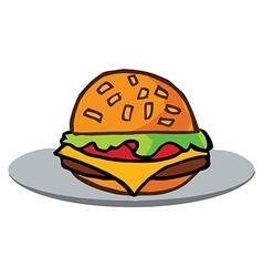 Fast food cartoon vector