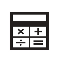 Flat icon in black and white calculator vector