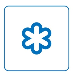 Forecast weather Snowflake icon vector