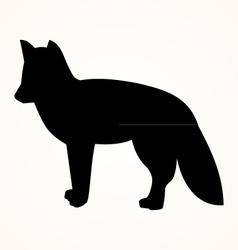 Fox icon vector