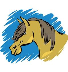 funny farm horse vector image
