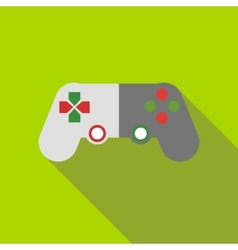 Game joystick icon flat style vector image