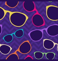 glasses seamless pattern cartoon flat style vector image
