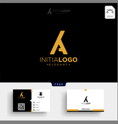 gold luxury initial k or ka logo template and vector image