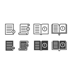 Guide booklet and user guidance reference icons vector