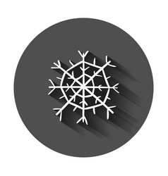 hand drawn snowflake icon snow flake sketch vector image