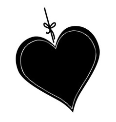 Heart love hanging icon vector