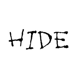 Hide stamp on white vector