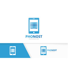 host and phone logo combination server and vector image