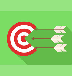 Icon target with arrows in flat design stock vector