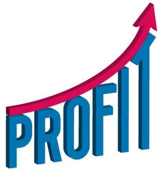 increase profit business concept vector image