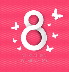 International women day background 8 march holiday vector