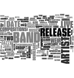 Jam bands text background word cloud concept vector