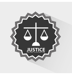 Justice icon design vector