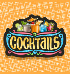 Logo for cocktails vector
