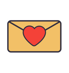 Love letter envelope with heart vector