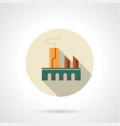 Manufacturing factory flat round icon vector