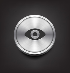 Metal eye icon vector