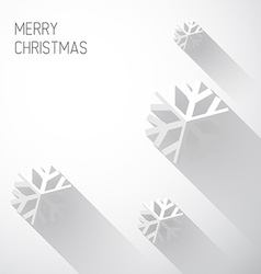 Modern white christmas card with flat design vector