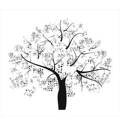 Molecule tree vector image