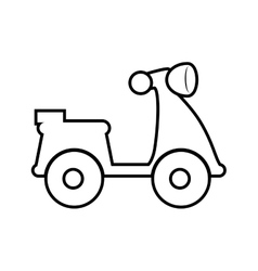 Motorcycle silhouette Transportation design vector