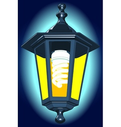 Night lantern vector