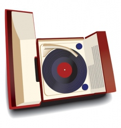 old fashioned record player vector image