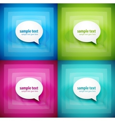 paper speech bubble background set vector image