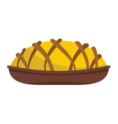 Pie colorful bakery product icon vector