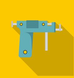 piercing gun icon flat style vector image