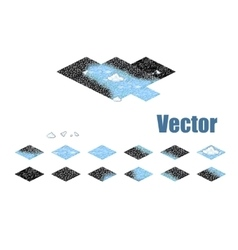 Pixel art sprite tiles for game background vector