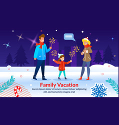 Poster inviting celebrate charismas with family vector