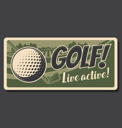 Professional golf hoband sport activity vector