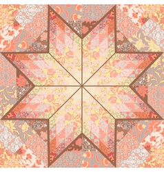 Quilt seamless pattern background star design vector image