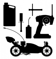 rc buggy with accessories vector image vector image
