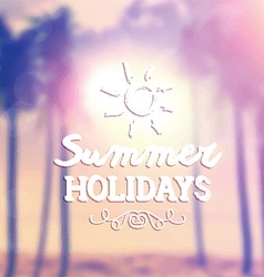 retro summer background 1405 vector image