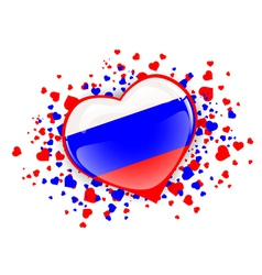 Russian federation heart vector