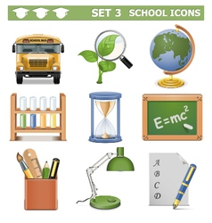 School Icons Set 3 vector