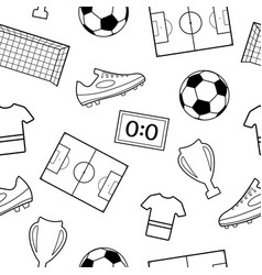 Seamless pattern of football symbols vector