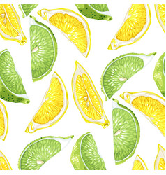 Seamless summer pattern with citrus slices of vector