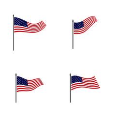 set american flag design template icon symbol vector image