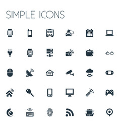 Set simple internet icons vector