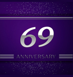 Sixty nine years anniversary celebration design vector