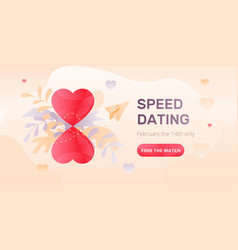 Speed dating web banner vector