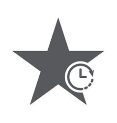star icon with clock sign vector image