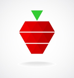 Stylized geometric strawberry logo template vector image vector image
