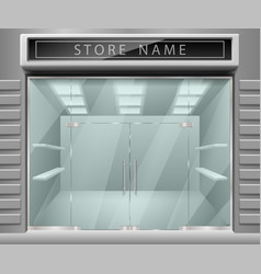 template for advertising 3d store front facade vector image