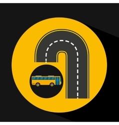 U road bus transport public vector