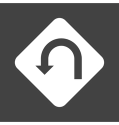 U-turn Sign vector