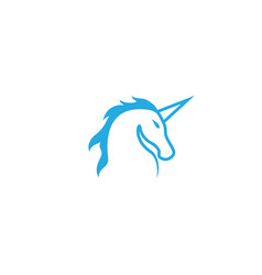 unicorn horse head for logo design vector image